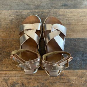Mia Girl Ankle Strap Sandals, Rose Gold, Size 3